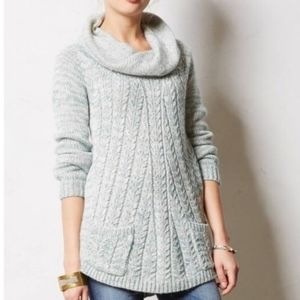 Anthro - Guinevere Sage Marled Tunic Sweater